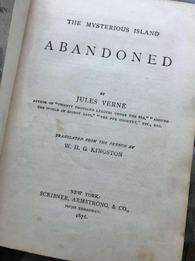 THE MYSTERIOUS ISLAND: ABANDONED. Jules Verne, W J. G. Kingston, transl.
