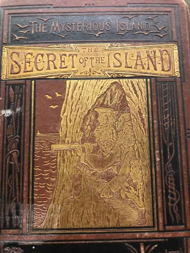 THE MYSTERIOUS ISLAND: THE SECRET OF THE ISLAND. Jules Verne, W H. G. Kingston, transl.