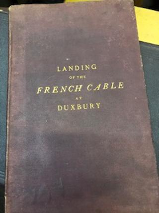 THE LANDING OF THE FRENCH ATLANTIC CABLE AT DUXBURY, MASS., July 1869.