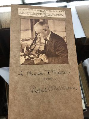 INSCRIBED AND SIGNED PRINTED PHOTOGRAPH. Robert A. Millikan.