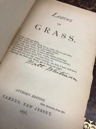 """LEAVES OF GRASS [""""Author's Edition"""" signed]. Walt Whitman."""