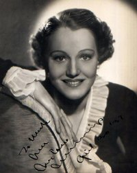 SIGNED AND INSCRIBED PHOTO. Constance Cummings.