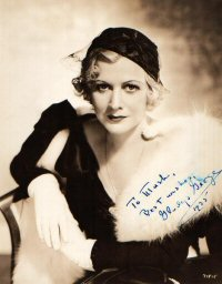 SIGNED AND INSCRIBED PHOTO. Gladys George.