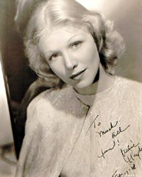 SIGNED AND INSCRIBED PHOTO. Julie Haydon.