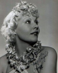 SIGNED AND INSCRIBED PHOTO. June Knight.