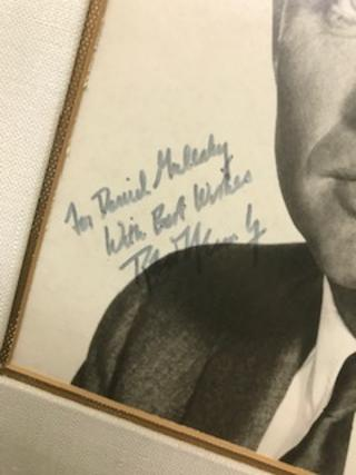 INSCRIBED AND SIGNED PHOTO OF ROBERT KENNEDY. Robert F. Kennedy.