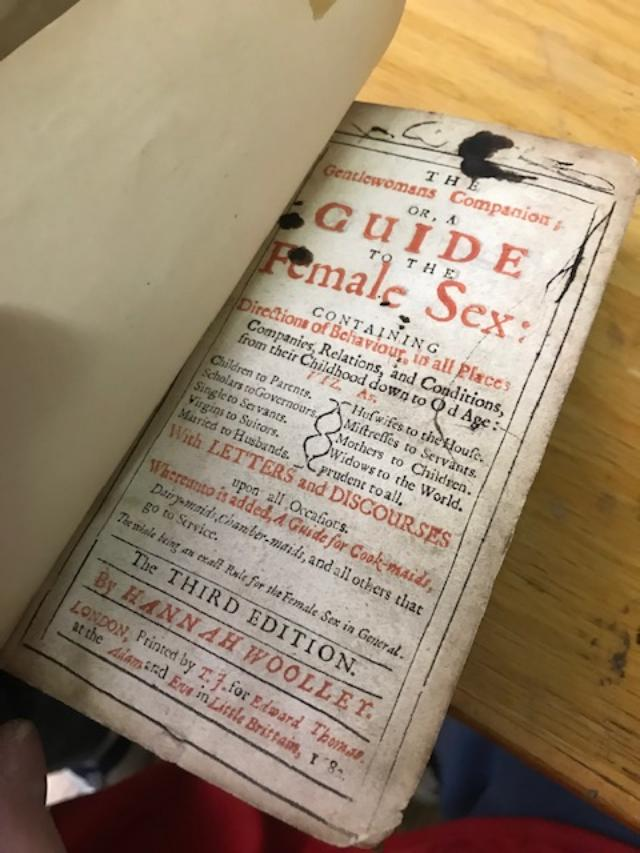 THE GENTLEWOMANS COMPANION; Or, A Guide to the Female Sex: Containing Directions of Behaviour in All Places . . . Whereunto Is Added, A Guide for Cook-maids. . Hannah Woolley.