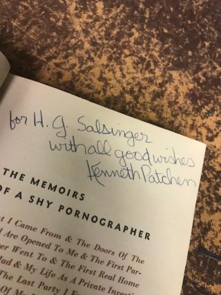 THE MEMOIRS OF A SHY PORNOGRAPHER...An Amusement by Kenneth Patchen