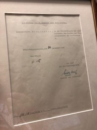 TYPED DOCUMENT SIGNED BY ADOLF HITLER AS FURHER December 24, 1944