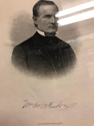 Framed engraving of former Michigan Lieutenant-Governor William M. Fenton