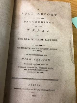 TRIALS, Bound volume containing ten accounts of trials in Dublin, 1794-1862, including the Yelverton Marriage Case, Thelwell vs. Yelverton