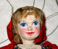 LITTLE RED RIDING HOOD MARIONETTE.