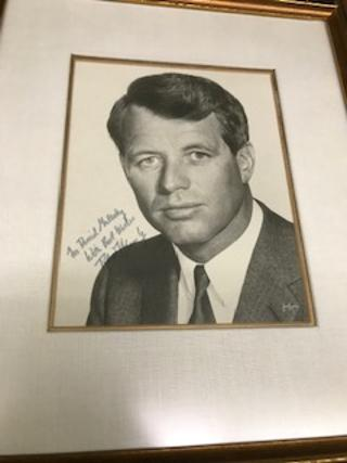 INSCRIBED AND SIGNED PHOTO OF ROBERT KENNEDY.