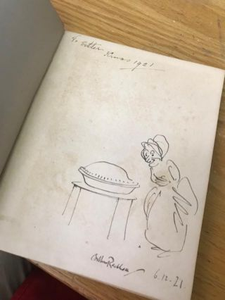 A Dish Of Apples [with original signed drawing by Arthur Rackham