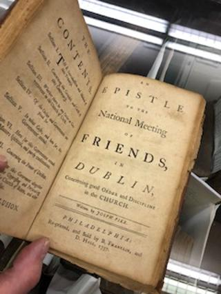 AN EPISTLE TO THE NATIONAL MEETING OF FRIENDS, IN DUBLIN, Concerning Good Order and Discipline in the Church