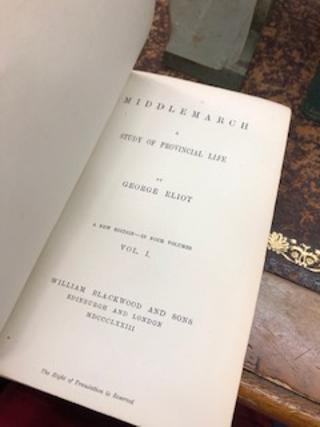 MIDDLEMARCH, A Study of Provincial Life [four volume set, New Edition]
