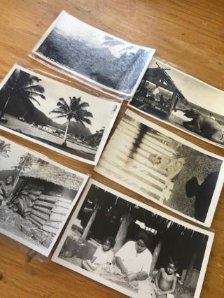 Group of ninety five original photographs and real photo postcards of American Samoa