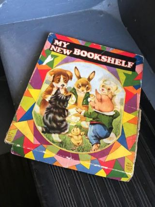 """MY NEW BOOKSHELF"" [boxed set: My Piggy Wiggy Book, Our Baby Bunnies, Barnyard Babies, My Puppy..."